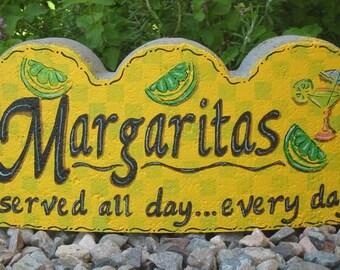 Margaritas Served All Day Every Day Small Scallop Stone Garden Art Outdoor Decoration Garden Decor
