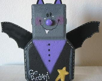 Halloween Gift, Halloween Decor, Gift for Halloween Lover, Bat Lover's Decor, Garden Decor, fall decor, bat decor, gift for halloween