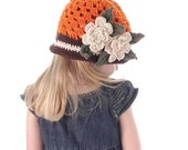 Pumpkin Spice Boutique Halloween Crocheted Cloche Hat
