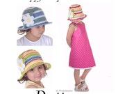 Ebook Pattern Crochet Happy Stripes Sun Hat