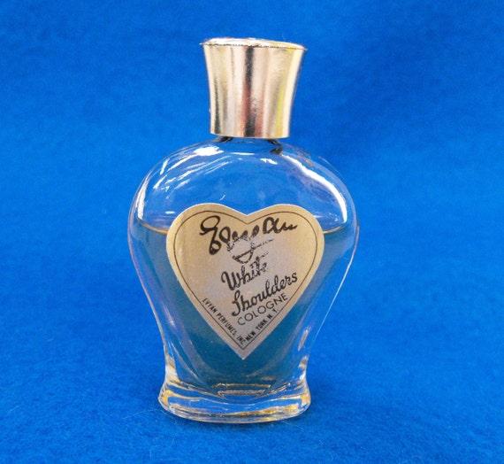 Vintage Perfume Bottle Evyan White Shoulders Cologne Ca 1950