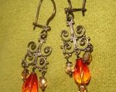 Vintage Lantern Glow Chandelier Earrings
