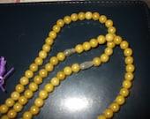 108 bead 8mm round gold jade mala with fluorite guru bead