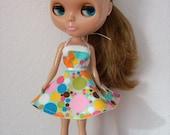 Retro-Dotted Dress for Blythe
