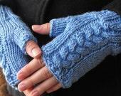 Cashmere wrist warmers Sea blue