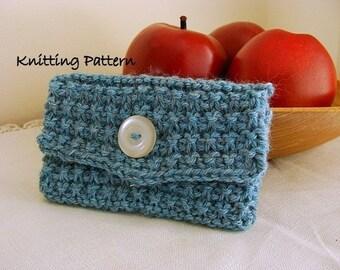 Knit Wallet or Card Holder PDF Knitting Pattern