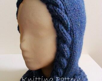 Woodland Hooded Scarf PDF Knitting Pattern