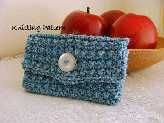 Knit Wallet or Card Holder PDF Knitting Pattern