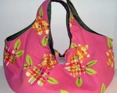 Pink Flower Purse\/Tote