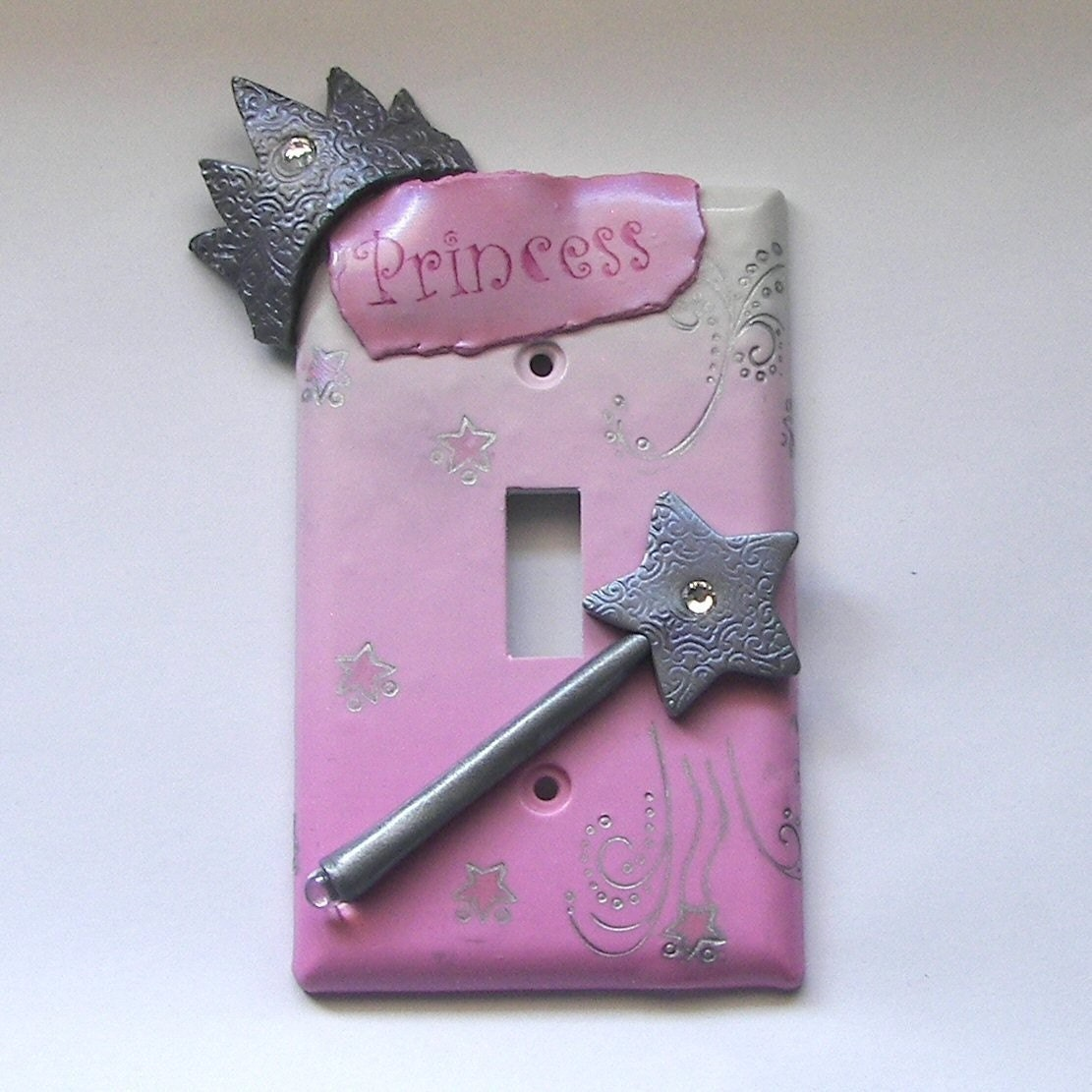 Custom Order For Lubna Pink Princess Light Switch Plate Cover