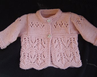 Knitting PATTERN Thistle and Clover Baby Set-- Instant Download