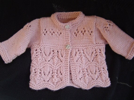 Thistle and Clover Baby Set Knitting PATTERN