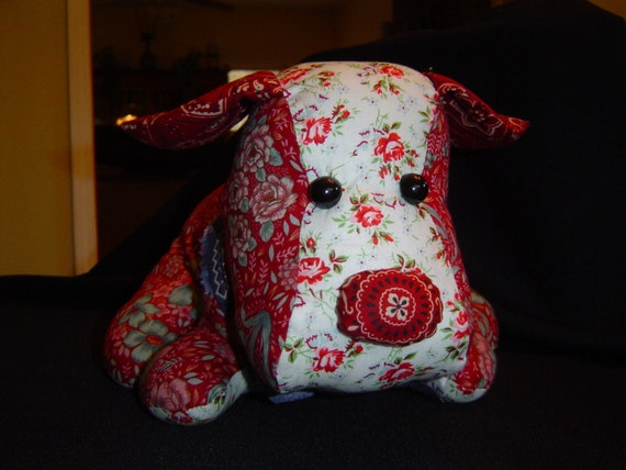Stuffed Puppy-- Ruby Red Rover--SALE