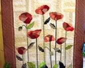 Wall Hanging Poppies In A Hidden Garden