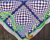 Art Quilt Wall Hanging Optical Illusion Alice In Wonderland Inspired Decor