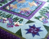 Quilted Wall Hanging The Iris Garden