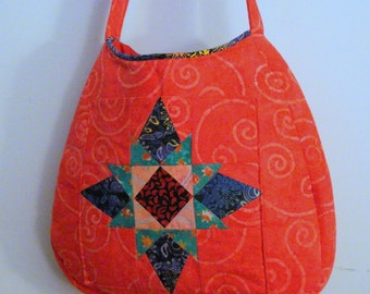 Quilted Salmon Pink Bag