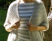 Light Grey Shrug, Shawl, Scarf, all in one - Ready to be Shipped
