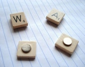 2 x scrabble magnets - choose your letters // FREE SHIPPING //