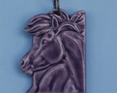 Horse Pendant in Purple