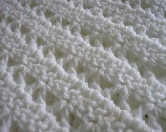 Baby Afghan - 36x36 - white