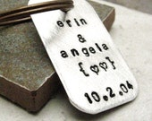 Personalized Keychain, Couples keychain, Anniversary keychain, anniversary gift, customize with your own wording, gay or straight couples