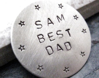 Personalized Golf Ball Marker Nickel Silver, customization available, choose copper or nickel silver