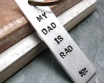 My Dad is Rad Keychain, Father's Day gift, Father's Day Keychain, Dad keychain, Daddy keychain, cool dad gift, gifts for dad, gift for dad