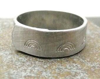 Rainbow Ring, Rainbow Wrap Ring, LGBTQ ring, LGBT ring, lesbian ring, customization available, 1/4 inch width, please read listing