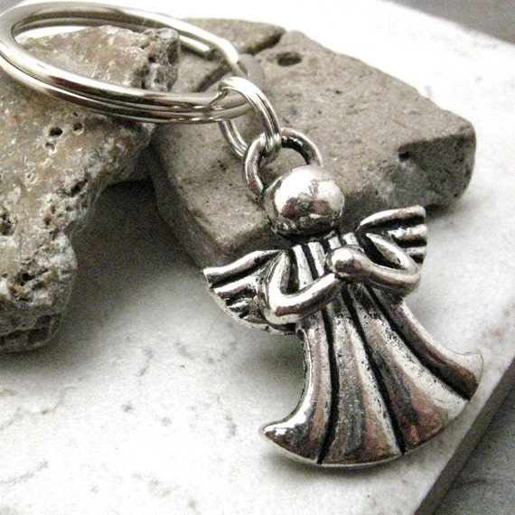 Angel Key Chain, silver plated, perfect as a gift too, READY TO SHIP, limited amount in stock