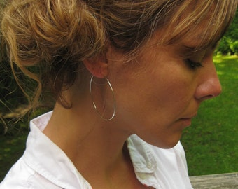 Your Everyday Silver Hoops ... bright sterling silver 2 inch hoops