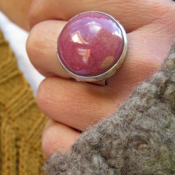 Berry Berry Raspberry Rhodonite Ring