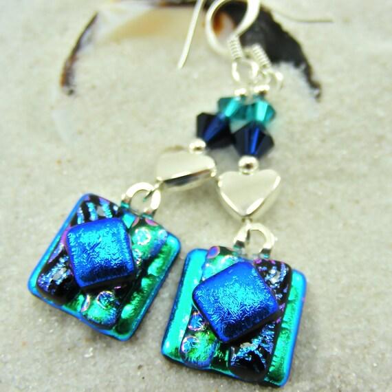 Crazy Love Dichroic Earrings