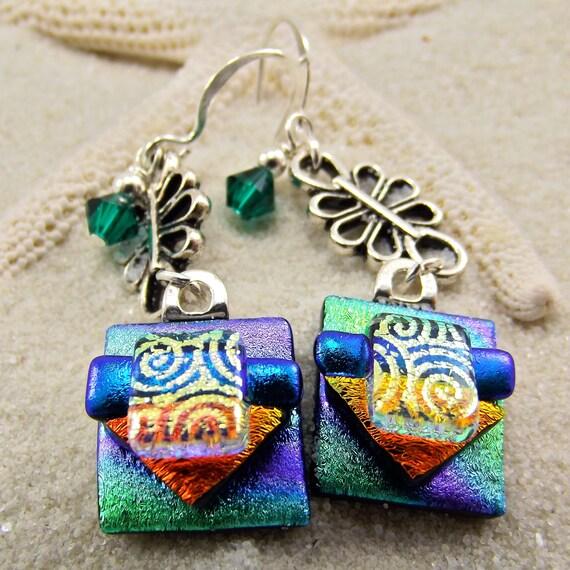 Kokee Kauai Dichroic Earrings