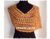 The Tangier Lace Caplet or Scarf Crochet Pattern PDF
