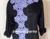 Floral Garden Scarf Crochet Pattern PDF