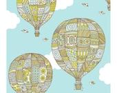 Hot Air Balloon- Limited edition screen print -18x24