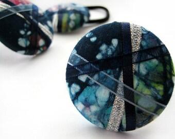 Parade - One Oversized Batik Hair Tie - Button Ponytail Holder - Hair Candy by Gazzu
