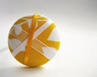 Lemon Crush - One Oversized Hair Tie - Button Ponytail Holder - Hair Candy by Gazzu