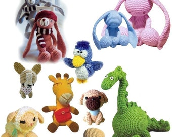Get the entire Collection of 9 Japanese Animals Amigurumi in ENGLISH