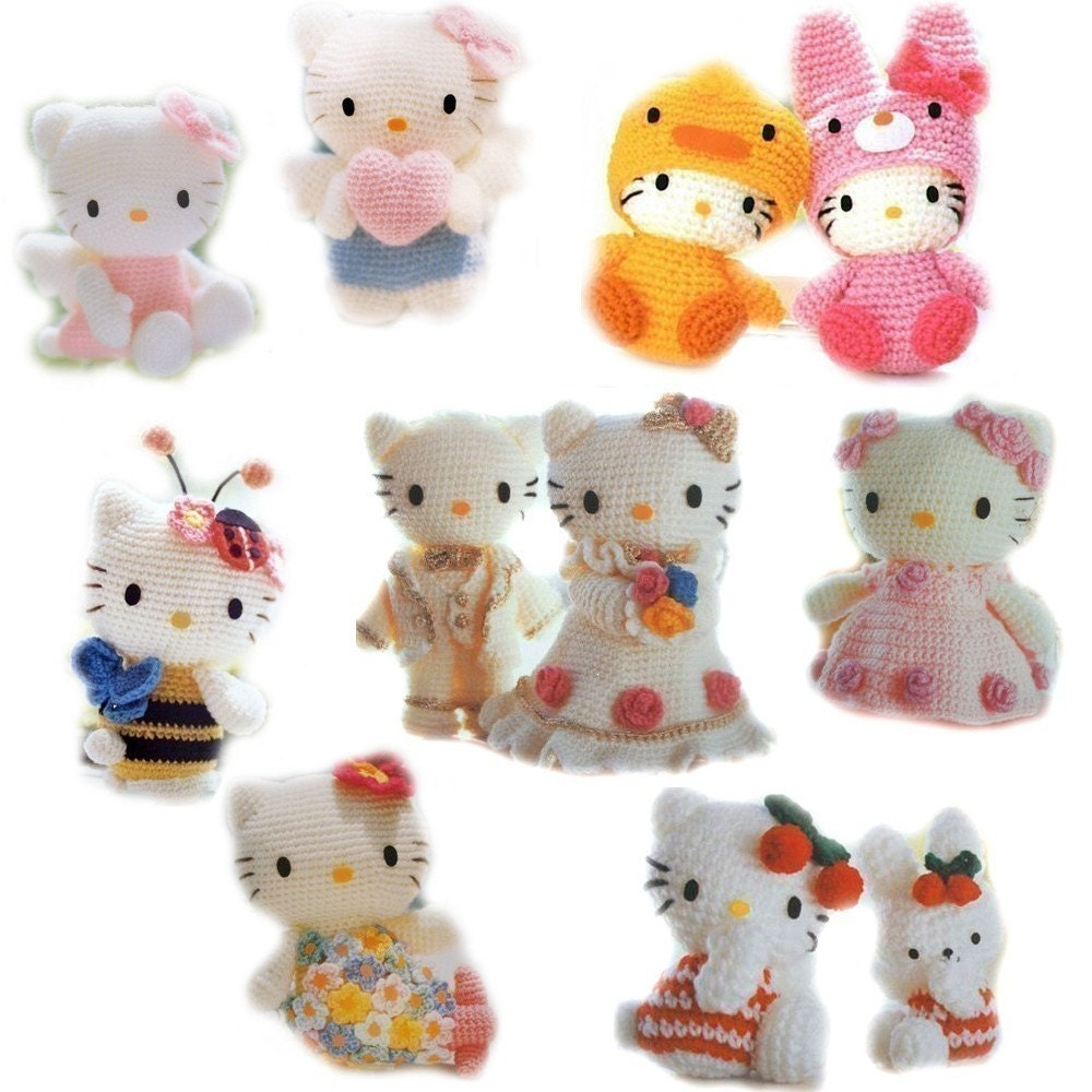 Crochet Pattern Minnie Mouse Doll : Sanrio Amigurumi CROCHET PATTERN Collection Hello Kitty