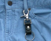 Leather Trigger Snap Key Ring, Leather Keyring