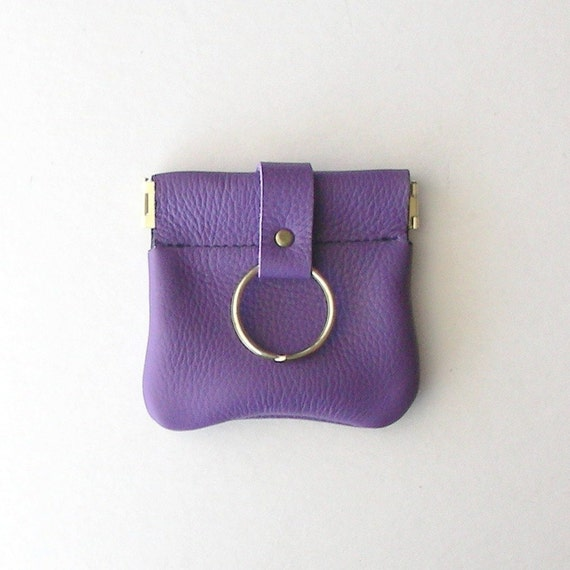 Leather Squeeze Frame Coin Purse, Leather Coin Purse, Bright Color Leather Coin Purse