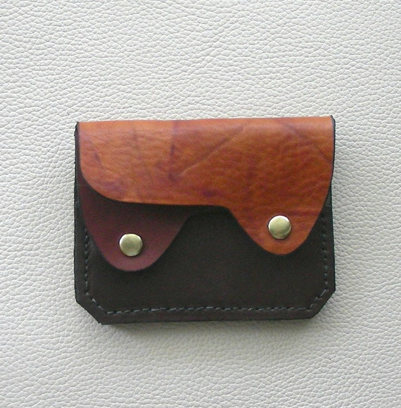 Earth Colors  Leather  Wallet / Coin Purse / Card Case