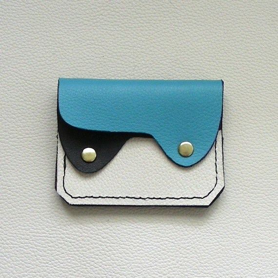 Small Leather Wallet, Coin Purse, Card Holder, Flat Leather Wallet, Leather Wallet