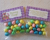 Printable Easter Bunny Poop Bag Toppers - Instant Download