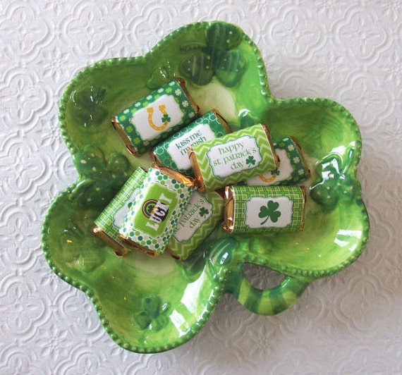 St Patricks Day Mini Candy Bar Wrappers