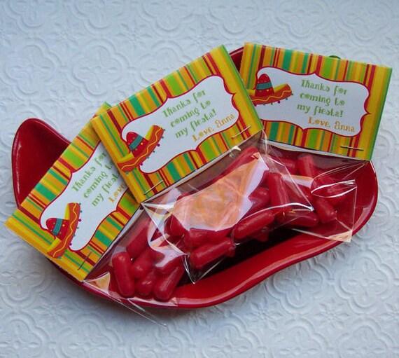 Printable Cinco De Mayo or Birthday Fiesta Mini Bag Toppers