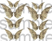Altered Layered Ephemeral Angel Wings...2  Digital Collage Sheets