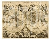 4 Antique World Maps Full Page Size ... Great for Backgrounds SteamPunK and  More...4 Digital Collage sheets Bundle